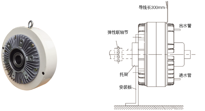 FZKY磁粉制动器安装示例图