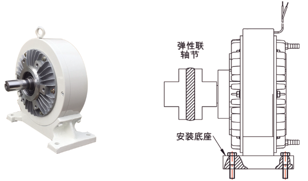 FZ磁粉制动器安装示例图
