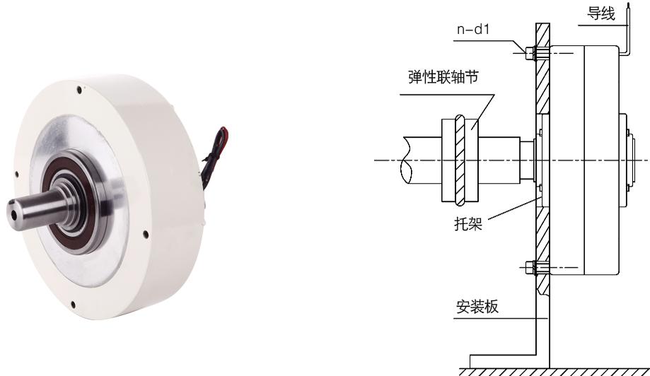 ZX磁粉制动器安装示例图